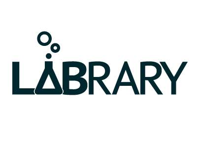 Labrary Logo Final logo library lab project monochrome contrast flask
