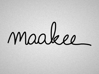 maakee Logo: Signature logo signature scribble