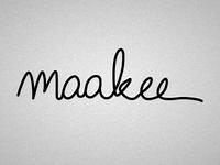 maakee Logo: Signature
