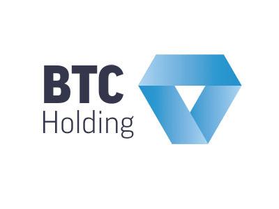 BTC Holding Logo WIP logo finance holding crystal diamond