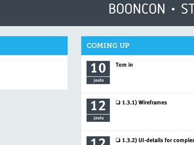 booncon | status board