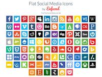 90 Free Flat Social Media Icons