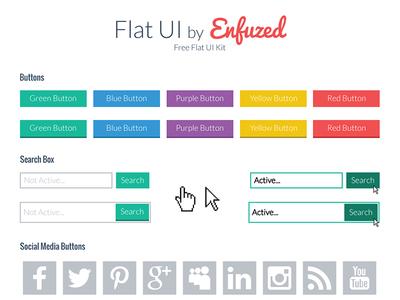 Free Flat Ui Kit v1.0 flat ui free freebie flat ui ui kit free ui free ui kit flat ui kit