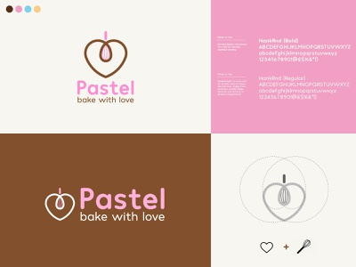 Pastel Bakery branding minimal vector logo illustration design