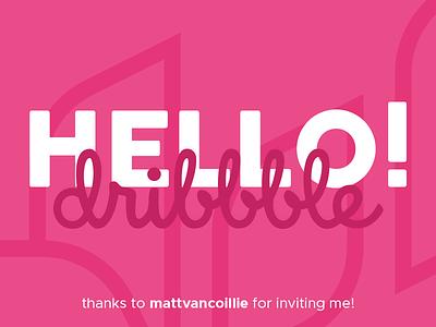Hello Dribbble! thank you logo branding design shot player invited dribbble first shot