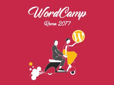 WordCamp WordPress- Rome 2017 romanholidays wordpress logo illustration