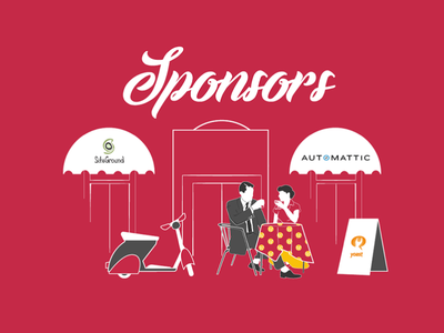 WordCamp WordPress - Rome 2017 - Call for Sponsors romanholidays wordpress illustrations