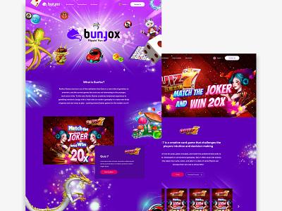 Game Revamped Website 01 vibrant color branding gaming website gaming ui landing web website