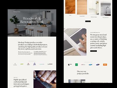 Ideology Carpentry Website ui elegant website web