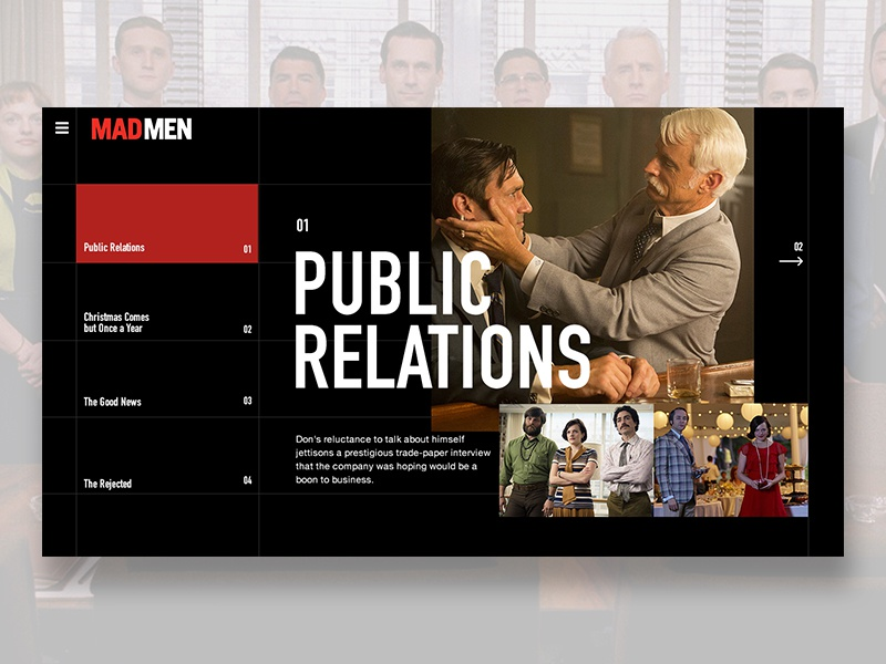 Mad Men American drama series website mad men