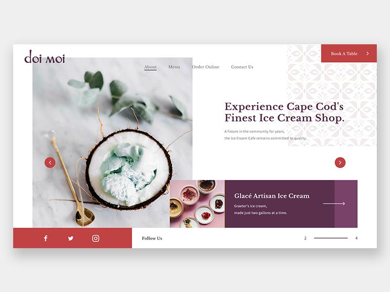 The Ice Cream Shop web design desserts fine dine ice cream