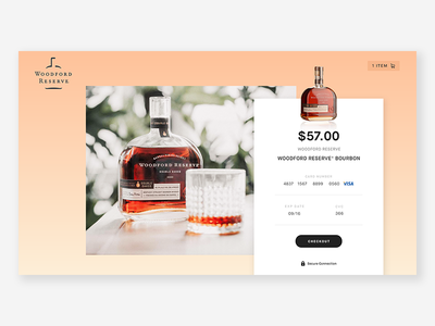 Whiskey Checkout Form design web checkout form credit card whiskey