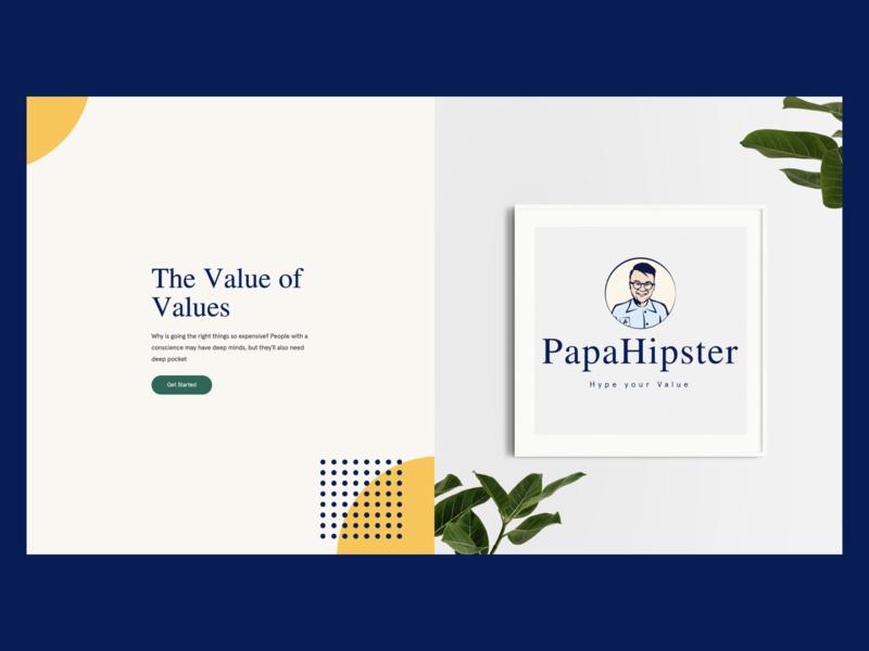 papahipster inspiration 01 landing website typography papahipster branding logo design ui web minimalist