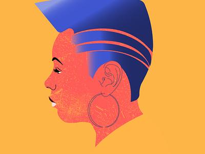 self portrait afro drawingart digitalart illustration blackart afrowomen adobe illustrator vector design ui