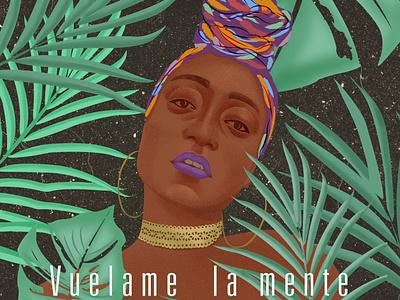 Cover illustration website creativeblackwomen digitalart blackart drawingart afrowomen illustration afro typography branding draw adobe illustrator vector design