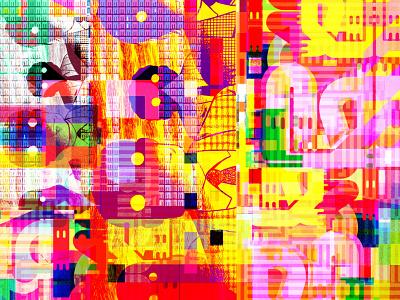 Parallel Remembrances glitch art symbols prismatic mindscape multiverse manga magic language kanji japan illustration graphic design graphic art dribbble dreams comics colors characters big bold colors apocalypse