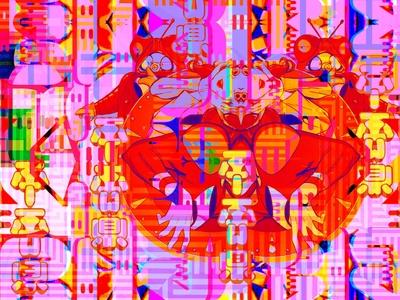 Read but Blue branding identity typography symbols print multiverse mindscape manga magic letters kanji illustration glitchart dreams comics color characters collage bigboldcolors