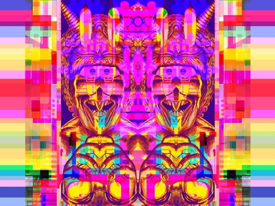 i me'm i glitch art kanji metaphysics symbols multiverse magic dreams geometric manga comics prismatic video games 80s 8bit dribbble graphic art graphic design illustration