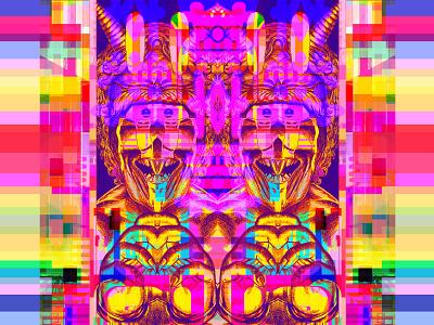 i me'm i glitch art kanji metaphysics symbols multiverse magic dreams geometric manga comics prismatic video games 80s 8bit dribbble graphic art graphic design illustration