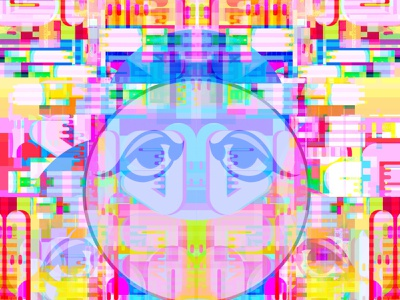 Turning Unfound multicolor bigboldcolor collage illustration typography letters magic symbols multiverse metaphysics kanji illusion reality graphicdesign glitchart geometic dribbble dreams connectivity identity