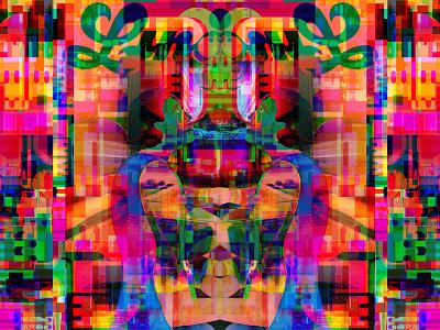 Last Church of the Lurching Word digital illustration bigboldcolors collage illustration typography letters symbols magic multiverse metaphysics nft illusion reality digitalart graphicdesign geometric dribbble dreams transformation identity
