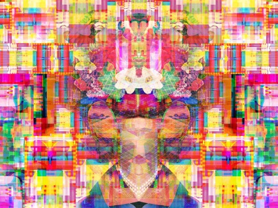 A Landscape Without Hearing typography kanji geometric bigboldcolor multicolor symbols magic multiverse illusion reality glitchart graphicdesign dribbble dreams transformation identity flowers nature collage illustration