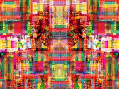 The Sudden Surprise of Place dribbble flowers nature transformation identity reality glitchart illusion bigboldcolors graphicdesign letters magic geometric dreams multiverse symbols typography color collage illustration