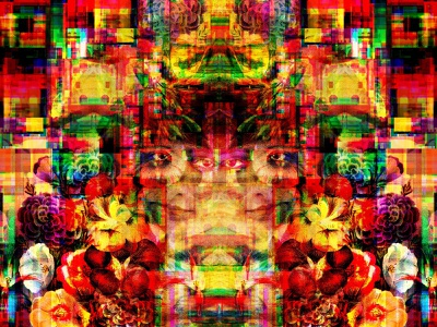 Nowhere (Now Here) symbols letters multiverse dreams geometric graphic design illusion glitchart reality identity transformation nature flowers dribbble magic print color collage illustration