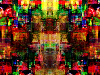 Underbolt Echoes print glitchart nftart plants flowers nature creative identity branding digitalart digitalillustration graphicart collageart digitalpainting digitaldrawing contemporaryart artwork color collage illustration