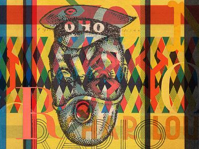 Oho Radio typography print poster psychic east gravitys rainbow texture form color type