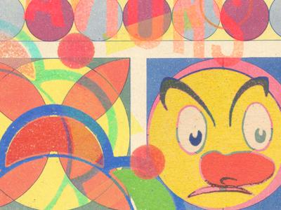 Scrum Volant west type geometry multiverse multidimensional colorwheel mental avions mandala east collage