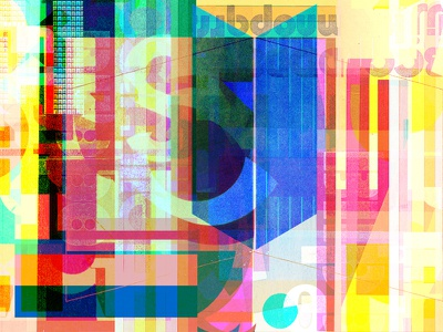 Syntax Axe artificial intelligence information chaos web typography collage illustration color poster type