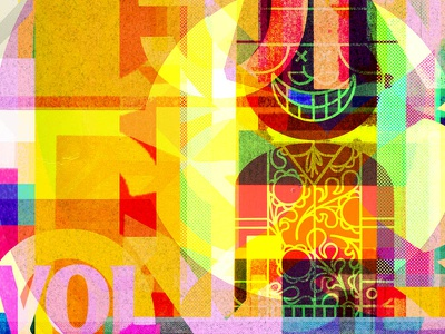 Endeavors for Never prism art movement shape patten modern paper geometric ephemera letters numbers type color print illustration collage typography branding abstract
