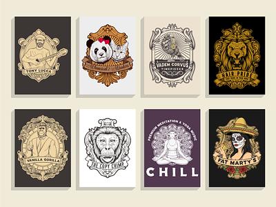 collection logos sold sold hand drawn logo hand drawn vintage logo retro badge branding animal vintage tshirt illustration vector ilustractor design logo