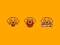 3 dog logo concept
