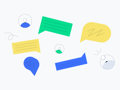 Lisk - Users and chats illustrator branding identity chat illustration