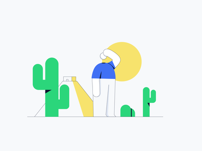 Lisk -  A little lost? blockchain 404 404page branding design cactus characterdesign character illustration