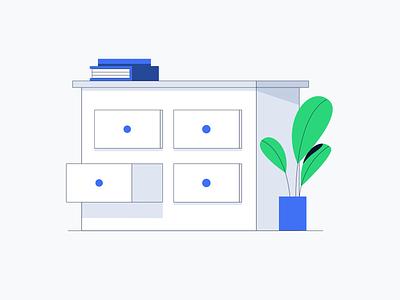 Lisk - Use Cases illustrations drawers books adobeillustator dribbble illustrator vector adobe design illustration