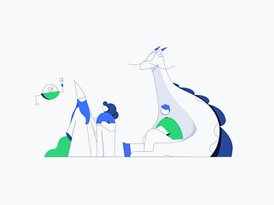 Lisk - Community Illustration blockchain dribbble adobe vector adobeillustator dragon community branding design character design illustration