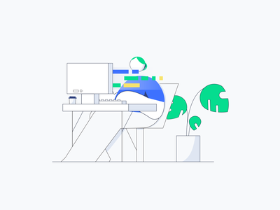 Lisk Research styleframe code coding dribbble character animation after effects illustrator motion vector adobe character design design illustration
