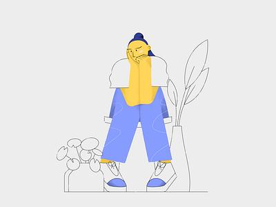 Plants & Chill illustrator vector character design adobe design illustration