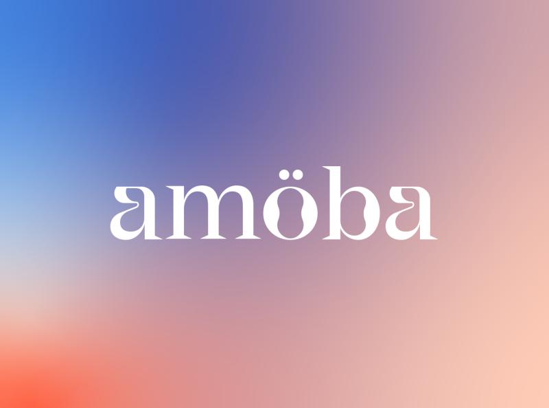 Amöba logo ö logo ö waveform gradient organic identity logotype logodesign branding lettering typography wave wavy logo design