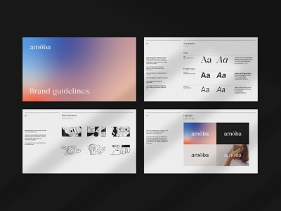 Brand guidelines for Amöba most studios most abstract illustration branding and identity guidelines guide brand guide identity brand guidelines identity brand identity branding brand