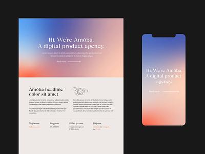 Amöba webb design developer ui web design agency most studios most webb animation gradient tech startup webbdesign webb web design design