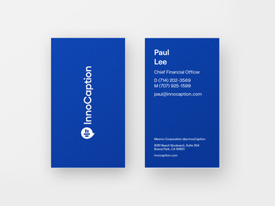 Business cards clean sound innocaption startup brand application business card business cards logo most most studios identity branding