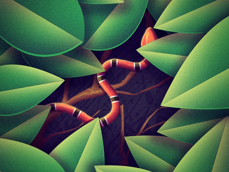 S 36 days of type visualisation creative photoshop digital art illustration green shrub snake s 36daysoftype