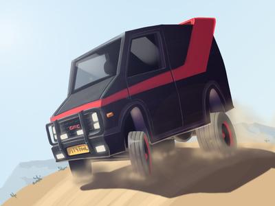 The A-Team Van monday blues monday a-team cartoon digital art photoshop creative illustration