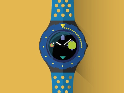 History of Swatch \ Flat Design flat design clock swatch illustration vector colour vectorial history swiss