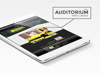 Auditorium \ Restyling Website  web site auditorium rome music responsive grid icon yellow seo landing page
