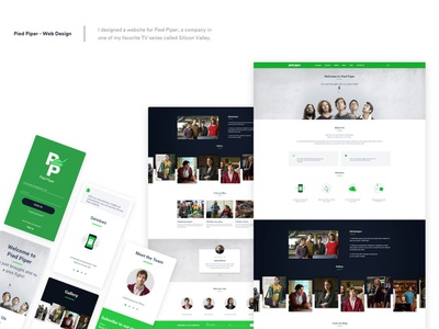 Pied Piper - responsive website branding vector icon ui ux logo bootstrap responsive design responsible responsive website concept website web silicon valley pied piper